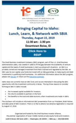 Idaho Event Flyer