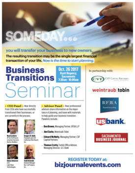 Business Transition Flyer